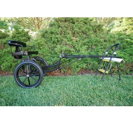 """Easy Entry Small Mini Horse Cart Metal Floor w/45"""" Shafts w/16"""" Motorcycle Tires"""