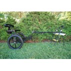 """Easy Entry Horse Cart-Mini Size Metal Floor w/48""""-55"""" Straight Shafts w/16"""" Motorcycle Tires"""