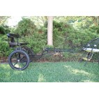 """EZ Entry Horse Cart-Mini Size Metal Floor w/53"""" Curved Shafts w/16"""" Motorcycle Tires"""