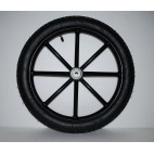 "Pair Horse Carriage Rubber Tire for Cart Gig Pneumatic Wheels Rim-Tire 16""-2.50"""