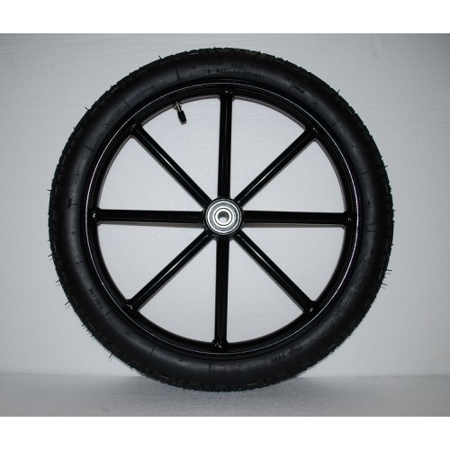 """Pair Horse Carriage Rubber Tire for Cart Gig Pneumatic Wheels Rim-Tire 16""""-2.50"""""""
