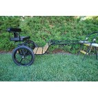 """Easy Entry Horse Cart-Mini Size Hardwood Floor w/48""""-55"""" Straight Shafts w/16"""" Motorcycle Tires"""