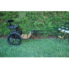 """EZ Entry Horse Cart-Mini Size Hardwood Floor w/53"""" Curved Shafts w/16"""" Motorcycle Tires"""