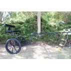 "EZ Entry Horse Cart-Pony Size 55""/60"" Straight Shafts w/18"" Motorcycle Tires"
