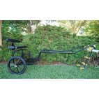"EZ Entry Horse Cart-Pony/Full Size Metal Floor with 69""/80"" Curved Shafts w/18"" Motorcycle Tires"