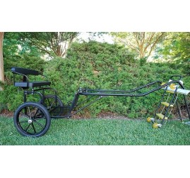 "EZ Entry Horse Cart-Pony/Cob Size Metal Floor with 60""/72"" Curved Shafts w/18"" Motorcycle Tires"