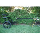 "EZ Entry Horse Cart - Pony/Cob Size Metal Floor with 60""/ 72"" Straight Shafts w/18"" Motorcycle Tires"