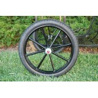 "Pair Horse Carriage Rubber Tire for Cart Gig Pneumatic Wheels Rim-Tire 18""-2.50"""