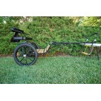"Easy Entry Horse Cart-Mini Size Hardwood Floor w/48""-55"" Straight Shafts w/18"" Motorcycle Tires"