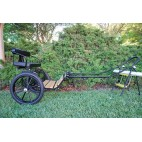 "EZ Entry Horse Cart-Mini Size Hardwood Floor w/53"" Curved Shafts w/18"" Motorcycle Tires"