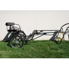 "Easy Entry Horse Cart-Mini Size Metal Floor w/48""-55"" Straight Shafts w/20"" Heavy Duty Bike Wheels"