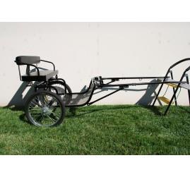 """Easy Entry Horse Cart-Mini Size Metal Floor w/48""""-55"""" Straight Shafts w/20"""" Heavy Duty Bike Wheels"""