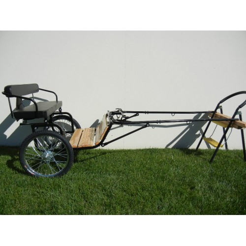 "EZ Entry Horse Cart-Mini Size Hardwood Floor w/48""-55"" Straight Shafts w/20"" Heavy Duty Bike Wheels"