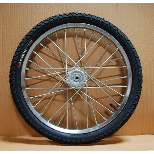 "Pair Mini or Small Pony Cart Heavy Duty Bike Wheels 20""x2.125"", 3/8""Axle, 3 3/8""Hub"