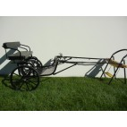 """EZ Entry Horse Cart-Mini Size Metal Floor w/48""""-55"""" Straight Shafts w/21"""" Solid Rubber Tiers"""