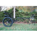 """Easy Entry Horse Cart-Mini Size Metal Floor w/48""""-55"""" Straight Shafts w/21"""" Motorcycle Tires"""