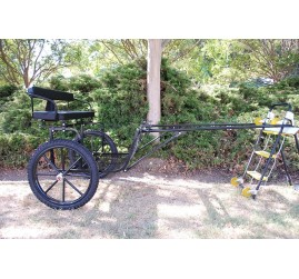 "EZ Entry Horse Cart-Pony Size 55""/60"" Straight Shafts w/21"" Motorcycle Tires"
