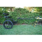 "EZ Entry Horse Cart-Pony/Cob Size Metal Floor with 60""/72"" Curved Shafts w/21"" Motorcycle Tires"