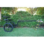 "EZ Entry Horse Cart-Pony/Cob Size Metal Floor with 60""/72"" Straight Shafts w/25"" Motorcycle Tires"