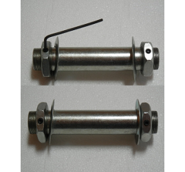 """Pair of Sleeves For Solid Rubber Tires or Motorcycle Tires-3/8"""" Axle, 5"""" Hub"""