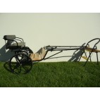 """EZ Entry Horse Cart-Mini Size Hardwood Floor w/48""""-55"""" Straight Shafts w/21"""" Solid Rubber Tires"""