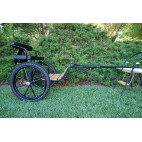 "Easy Entry Horse Cart-Mini Size Hardwood Floor w/48""-55"" Straight Shafts w/21"" Motorcycle Tires"