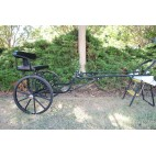 "Easy Entry Horse Cart-Mini Size Metal Floor w/48""-55"" Straight Shafts w/24"" Solid Rubber Tires"