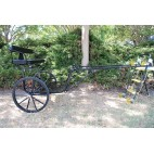 "Easy Entry Horse Cart-Pony Size 55""/60"" Straight Shafts w/24"" Solid Rubber Tires"