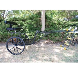 "EZ Entry Horse Cart-Pony Size 55""/60"" Straight Shafts w/24"" Solid Rubber Tires"