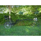 "EZ Entry Horse Cart-Pony/Cob Size Metal Floor with 60""/72"" Straight Shafts w/24"" Heavy Duty Bike Wheels"