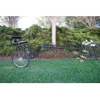"EZ Entry Horse Cart-Pony/Cob Size Metal Floor with 60""/72"" Curved Shafts w/24"" Heavy Duty Bike Wheels"
