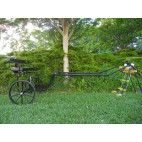 "EZ Entry Horse Cart-Pony/Full Size Metal Floor with 69""/80"" Curved Shafts w/24"" Solid Rubber Tires"