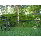 """EZ Entry Horse Cart-Pony/Cob Size Metal Floor with 60""""/72"""" Straight Shafts w/24"""" Solid Rubber Tires"""