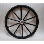 "Pair Horse Carriage Solid Rubber Tires for Horse Cart - 24"" Inches"