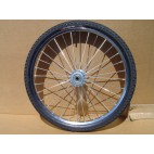 "Pair Horse Cart Heavy Duty Bike Wheels 24""x2.125"", 3/4""Axle, 4 1/2""Hub"