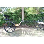 "EZ Entry Horse Cart-Mini Size Hardwood Floor w/48""-55"" Straight Shafts w/24"" Solid Rubber Tires"
