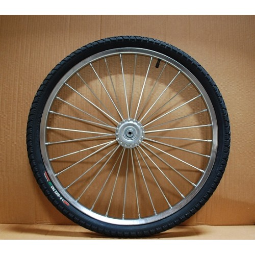 "One Horse Cart Heavy Duty Bike Wheel 24""x2.125"", 3/8""Axle, 4""Hub"