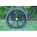 "Pair Horse Carriage Rubber Tire for Cart Gig Pneumatic Wheels Rim-Tire 25""-3.00"""