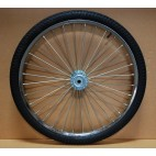 "Pair Horse Cart Heavy Duty Bike Wheels 26""x2.125"", 5/8"" Axle, 4"" Hub"