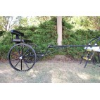 """Easy Entry Horse Cart - Mini Size Metal Floor w/48""""-55"""" Straight Shafts w/27"""" Solid Rubber Tires"""