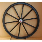 "Pair Horse Carriage Solid Rubber Tires for Horse Cart - 27"" Inches"