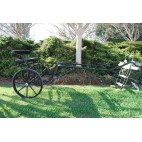 "EZ Entry Horse Cart-Pony/Full Size Metal Floor with 69""-80"" Curved Shafts w/30"" Solid Rubber Tires"