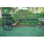 """EZ Entry Horse Cart-Pony/Cob Size Hardwood Floor with 60""""/72"""" Straight Shafts w/30"""" Solid Rubber Tires"""