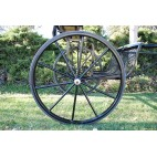 "Pair Horse Carriage Solid Rubber Tires for Horse Cart - 40"" Inches"
