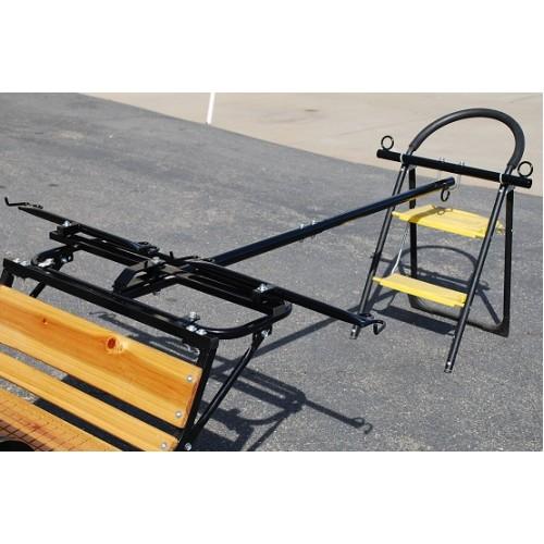 Mini or Pony Easy Entry Horse Cart Telescoping Team Pole-NIB